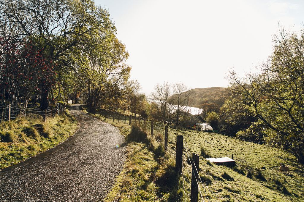 The Crofter's House Scotland country lane