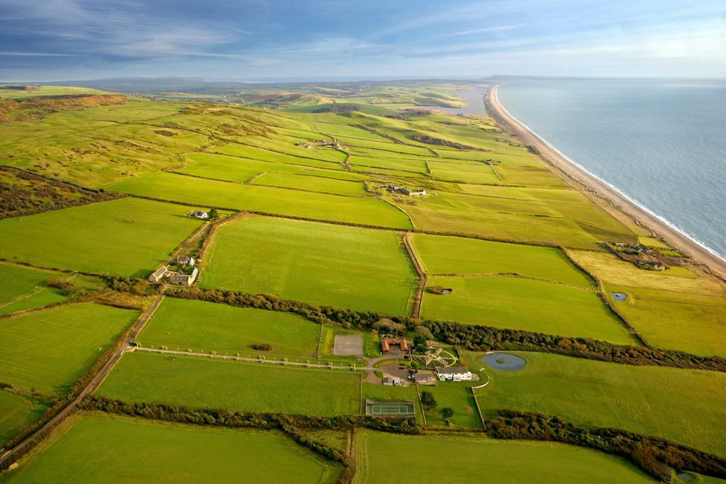 Breathtaking views of the countryside surrounding Short House near Chesil Beach