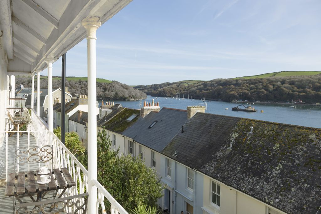 A view of Fowey from the balcony