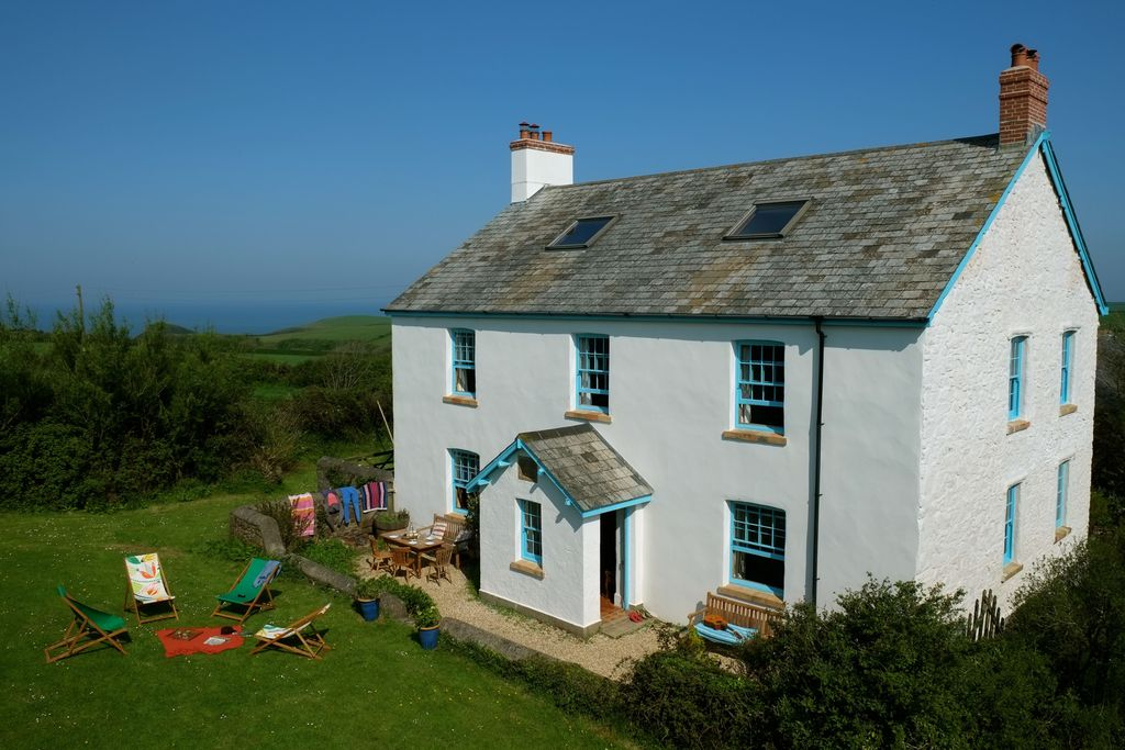 Farmhouse exterior view Devon Britain