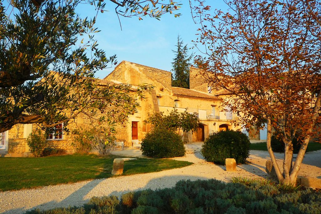 Domaine des Escaunes exterior shot in Sernhac, Pont du Gard, France