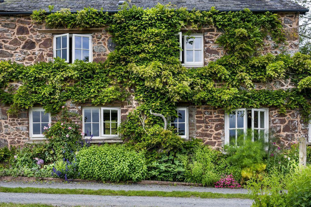 Exterior shot of Fursdon Cottage in Exeter, Devon, England, Britain