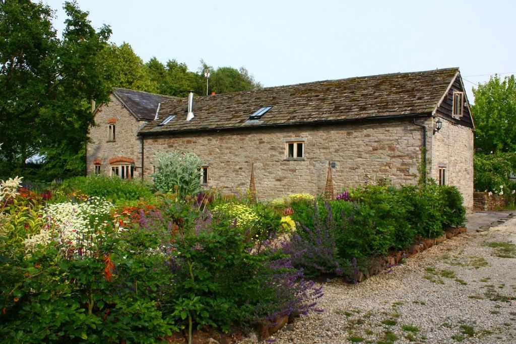 Exterior of The Granary, Little Quebb with lovely wild garden and plenty of flora