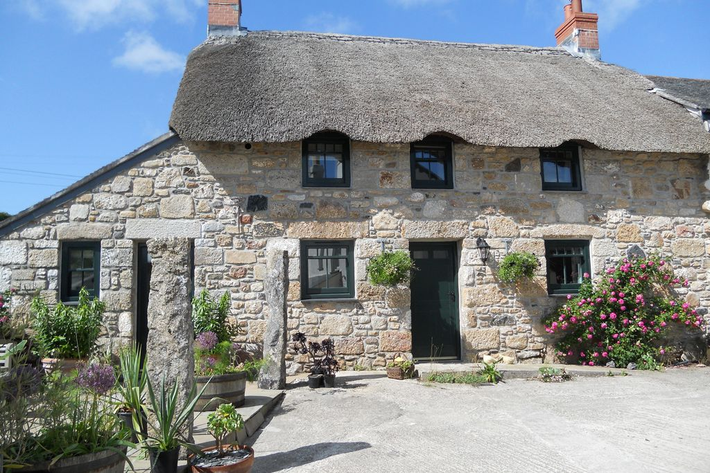 Ring & Thimble stone thatched cottage, set in 25 acres of garden in Penzance, Cornwall