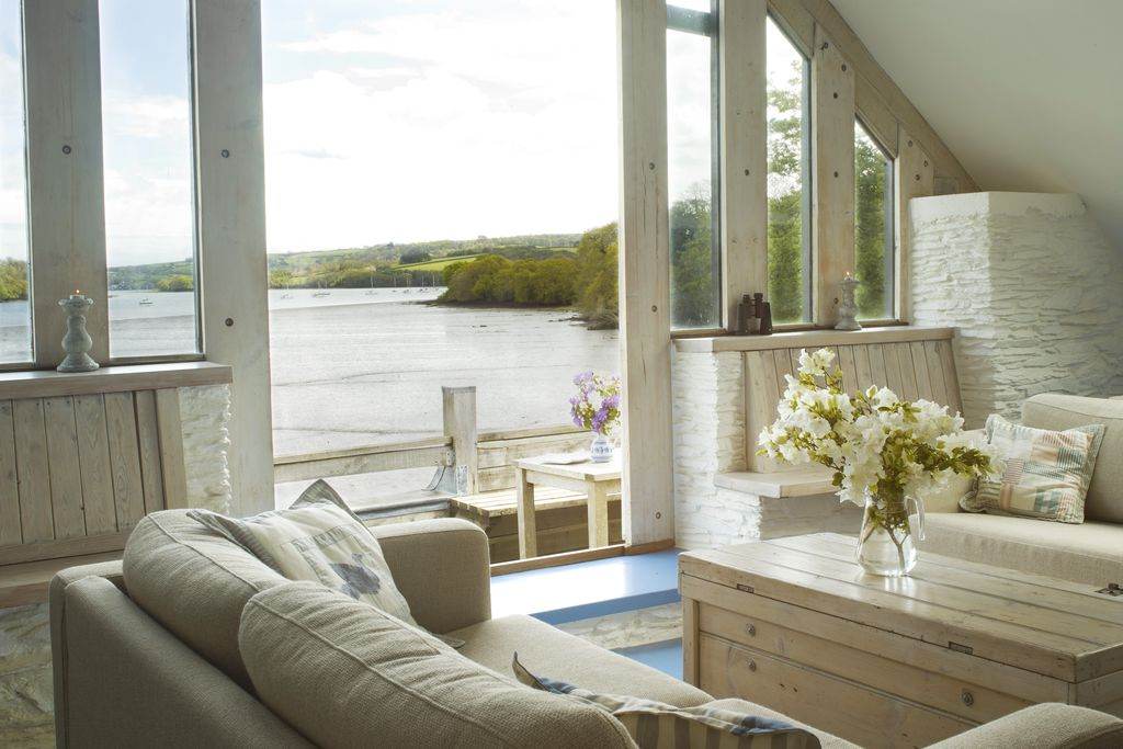 North Farm Devon, beautiful view from the living room out onto the river