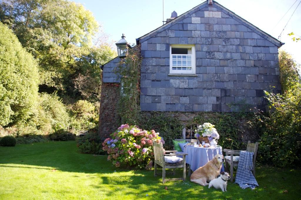 The Corn Mill Cornwall garden with seating area