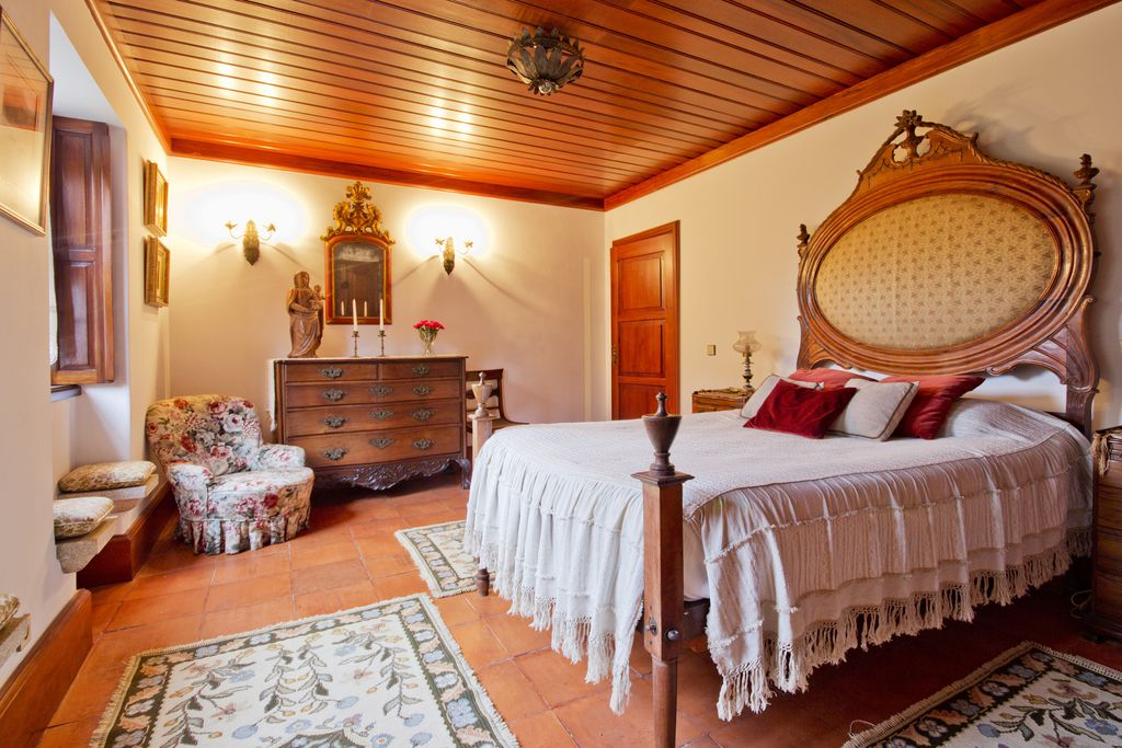 Bedroom at Quinta de Mouraes in Lever, Douro, Northern Portugal - a house full of tradition and history