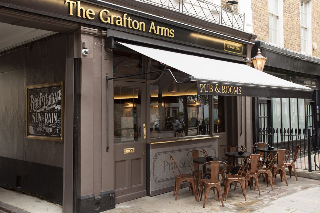 Exterior of The Grafton Arms Pub & Rooms in Fitzrovia, London