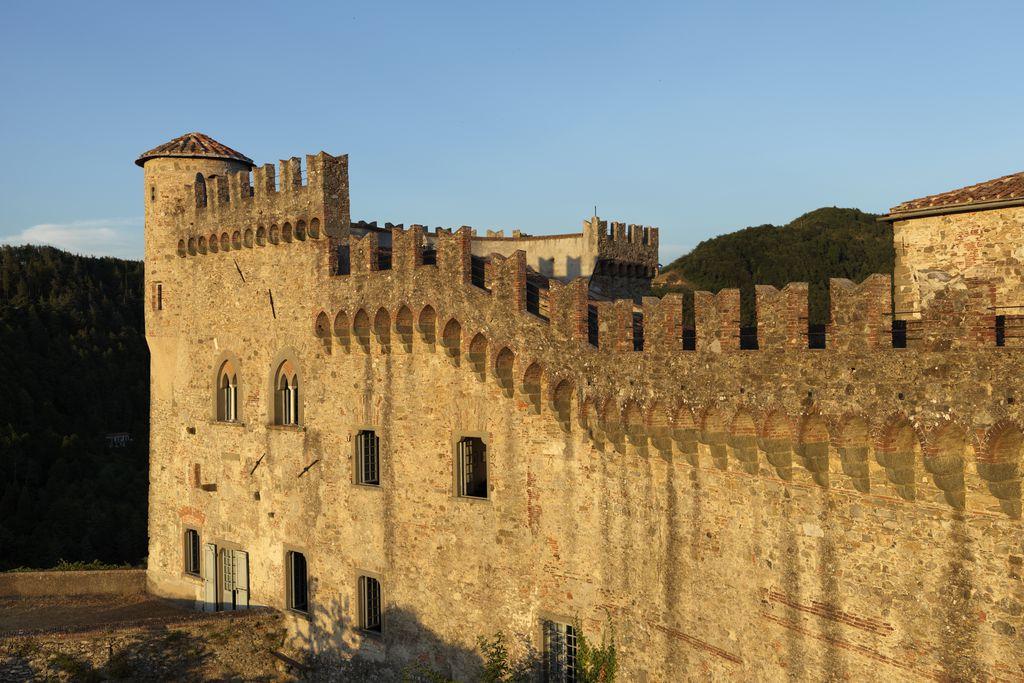 Castello di Fosdinovo in the beautiful evening sun of Massa-Carrara in Tuscany, Italy
