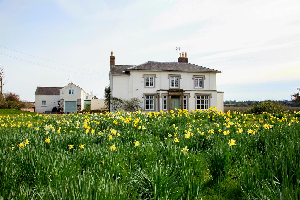 The Brow family house in a field of five acres in Wrexham, Wales