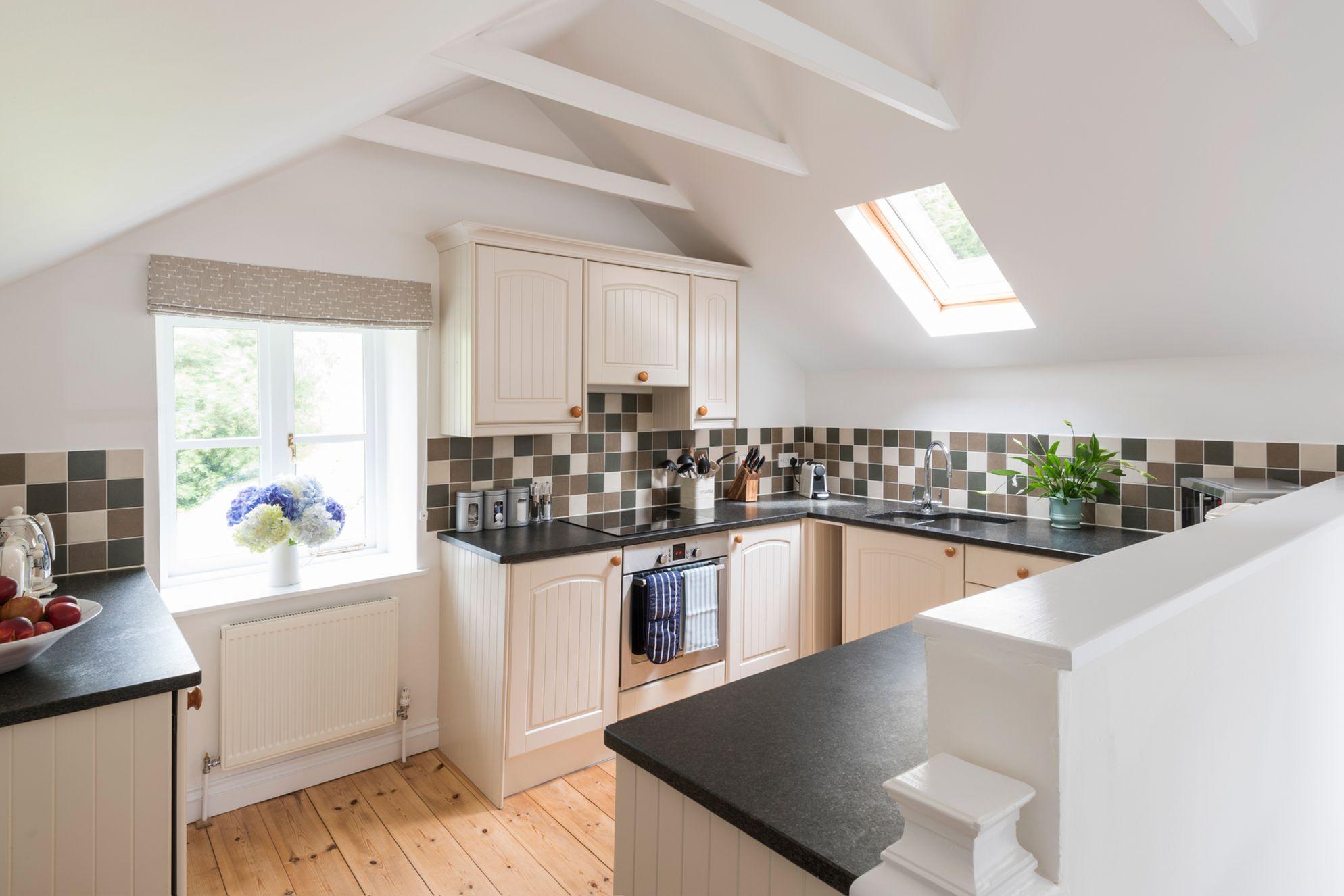 Naturally lit modern kitchen
