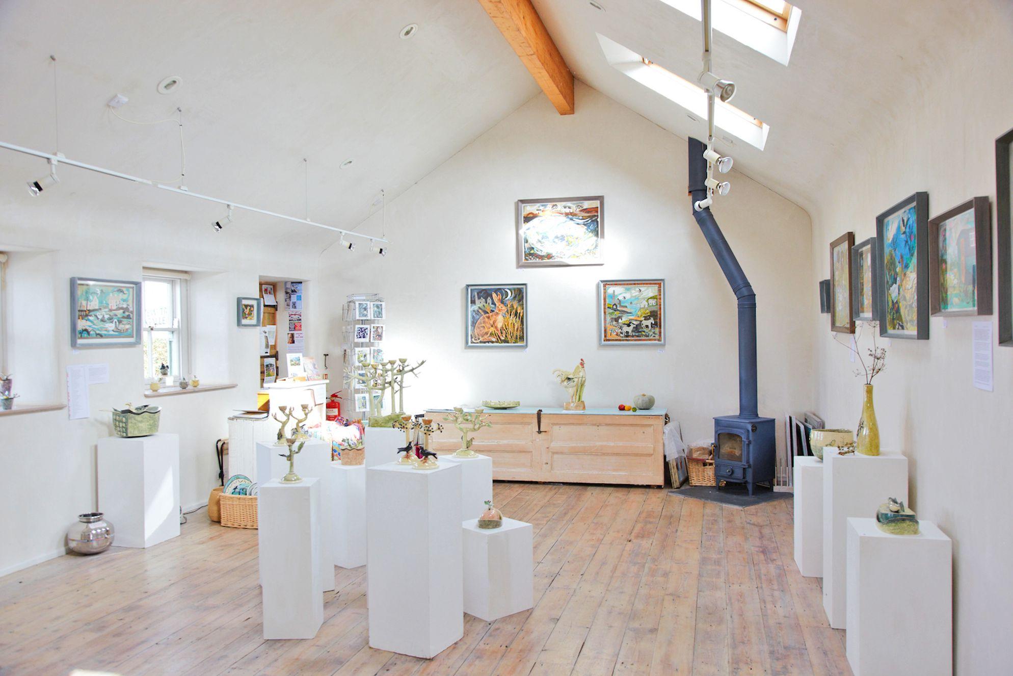 Art gallery at Keigwin Farmhouse