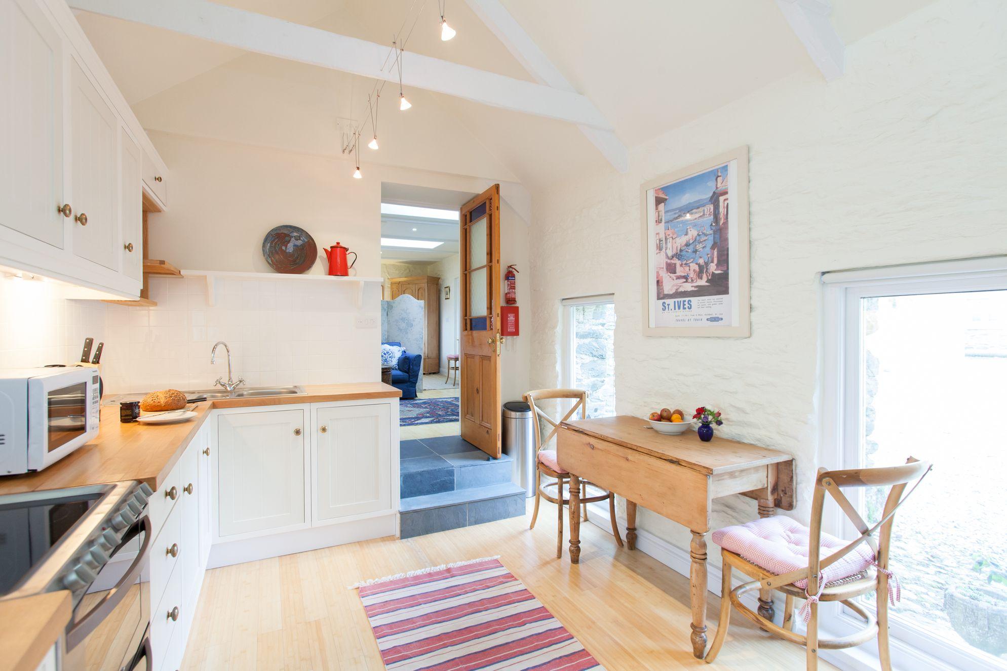 Bright kitchen in Truro, Cornwall