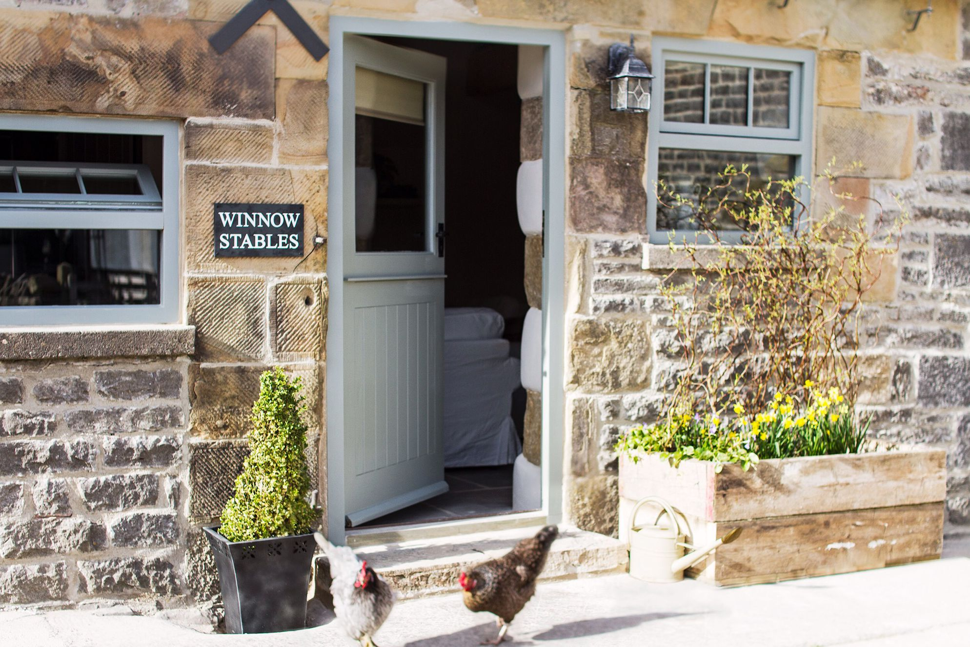 Exterior and entrance of Winnow Stables, Derbyshire