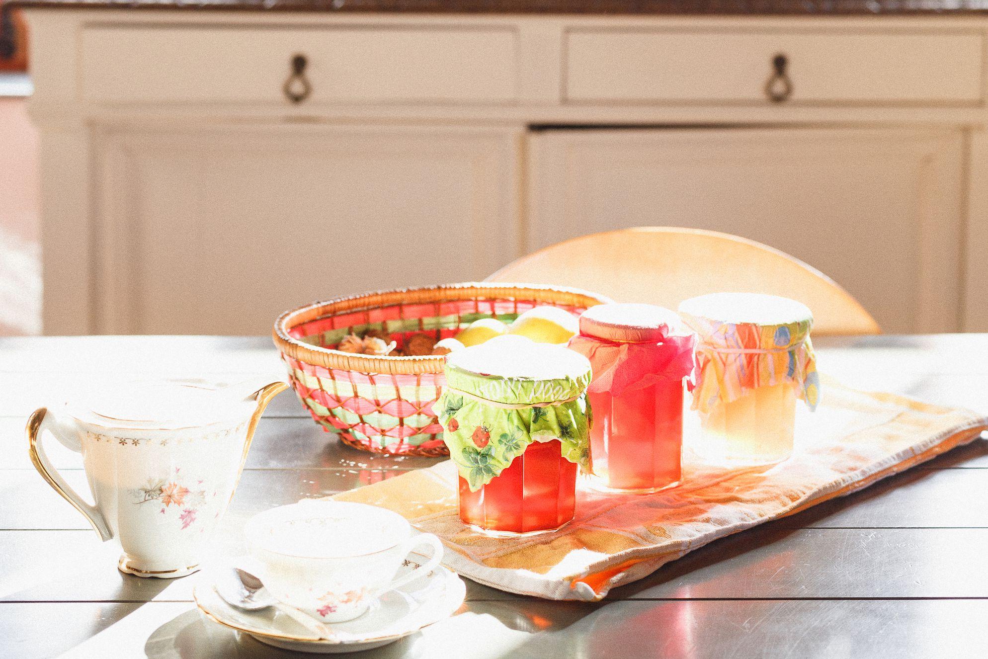 Tea and jams at La Lévrière