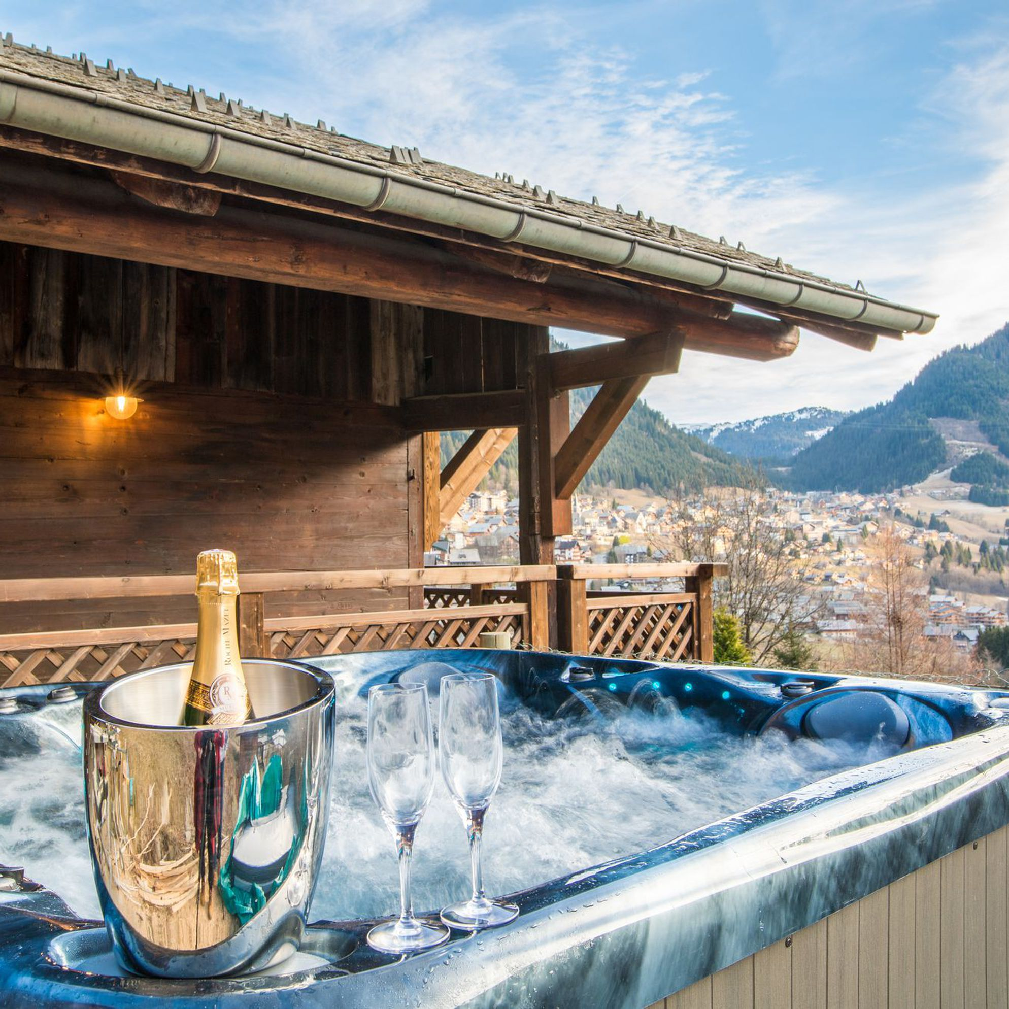 Hot tub holidays with a view