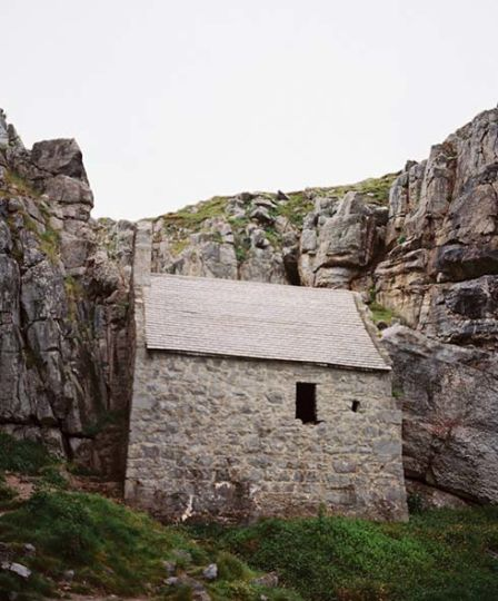 St Goven's chapel, carved into the cliffside in West Wales