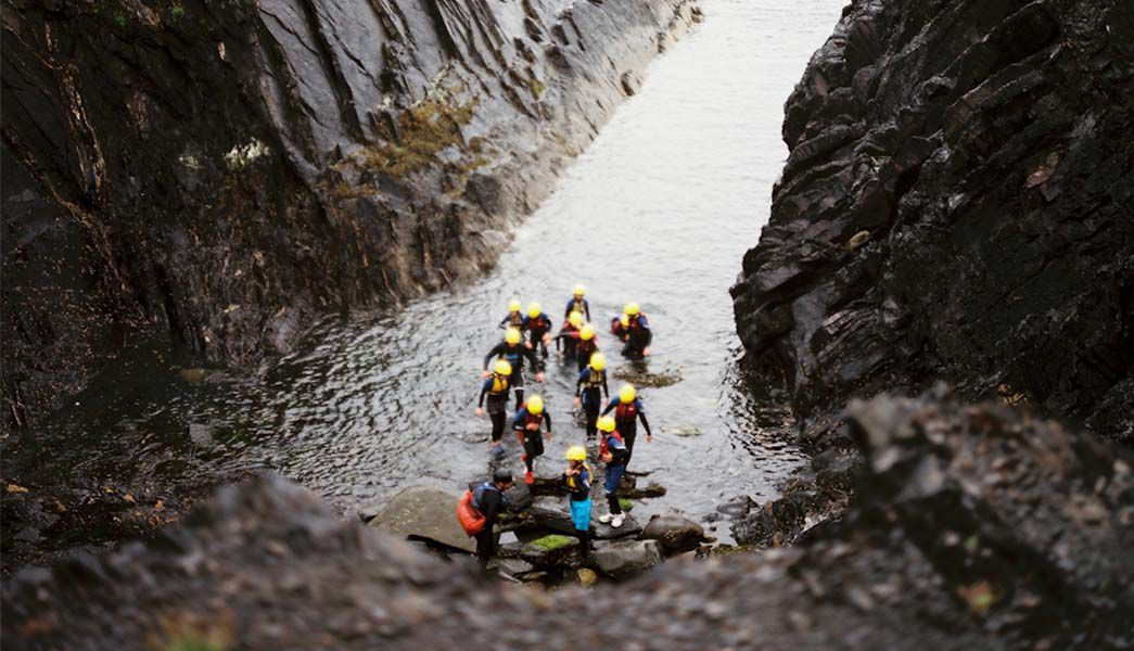 Coasteering Pembrokeshire west wales