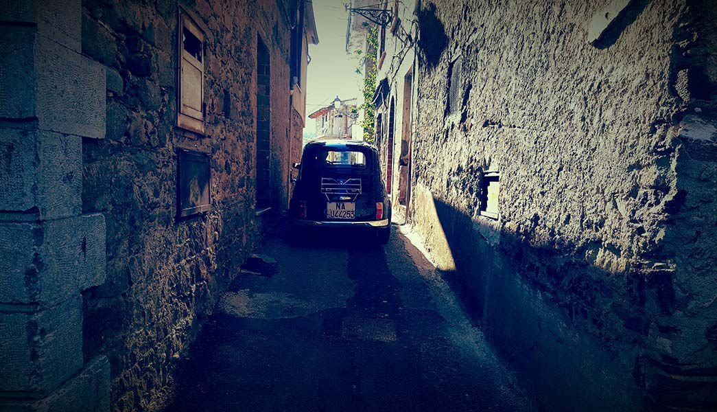 Fiat 500 in Cilento Italy
