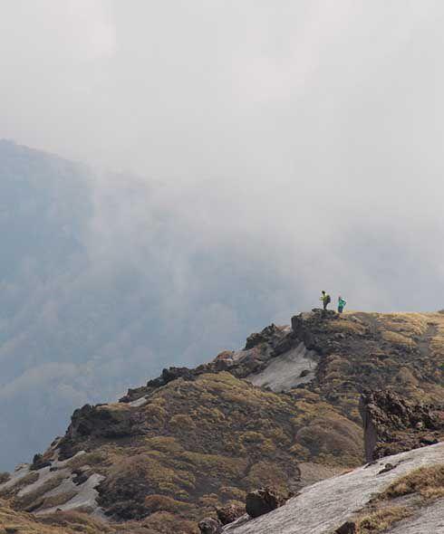Climbing Mt Etna in Sicily