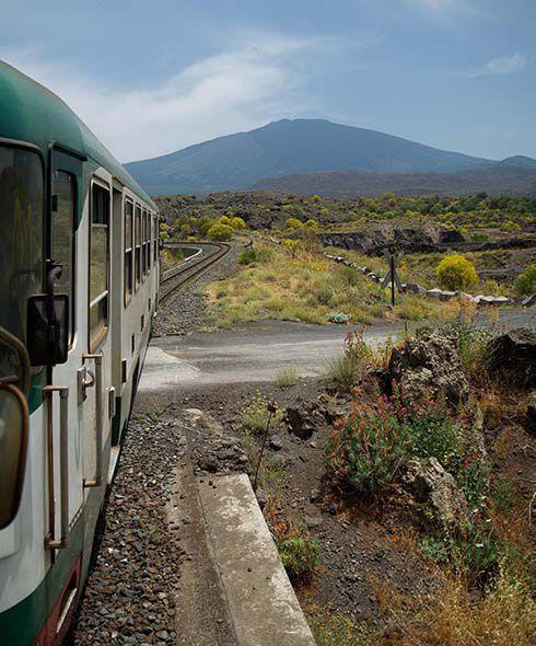 Sicily train journey in Italy