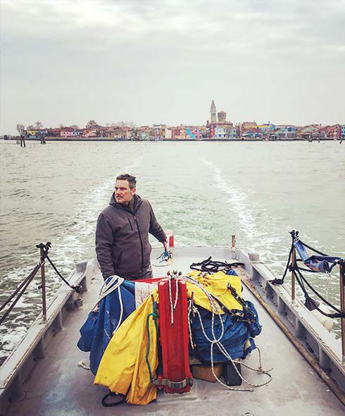 Fishing with Burano fisherman Sebastiano in the lagoon