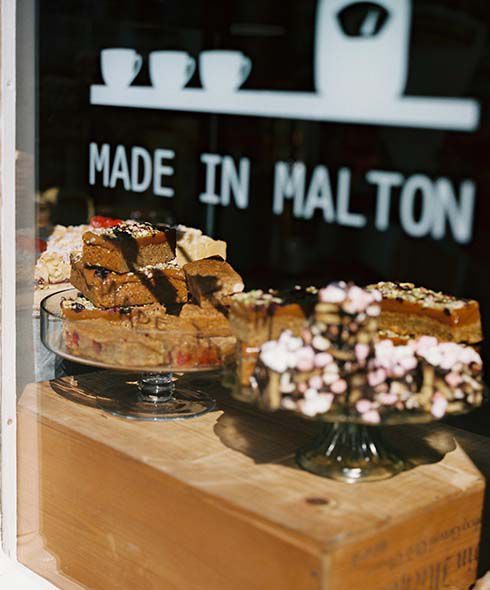 Malton bakery window