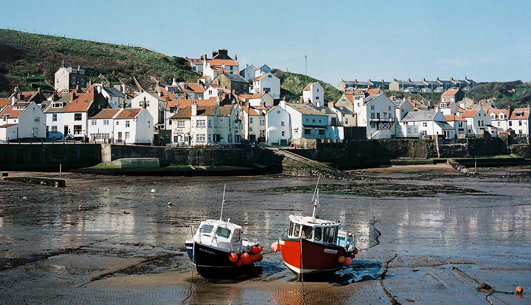 Boats in Staithes harbour