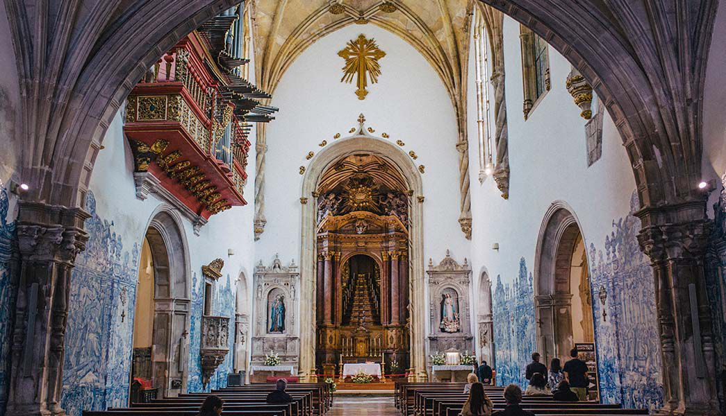 Decortaive church interior, Coimbra