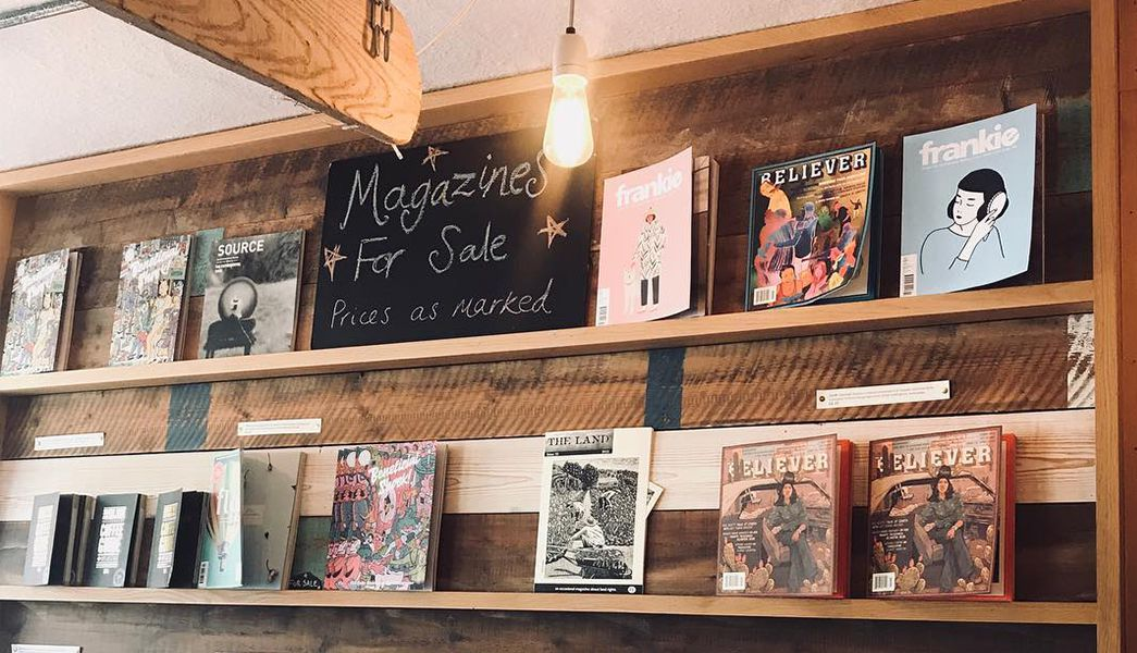Magazines sold at Soul Shine cafe