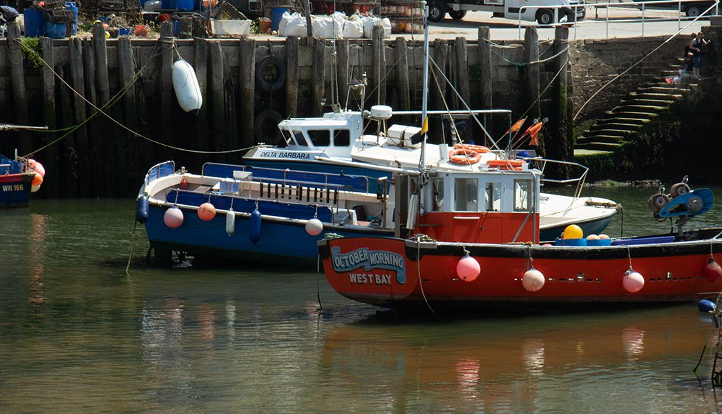 The working harbour at West Bay