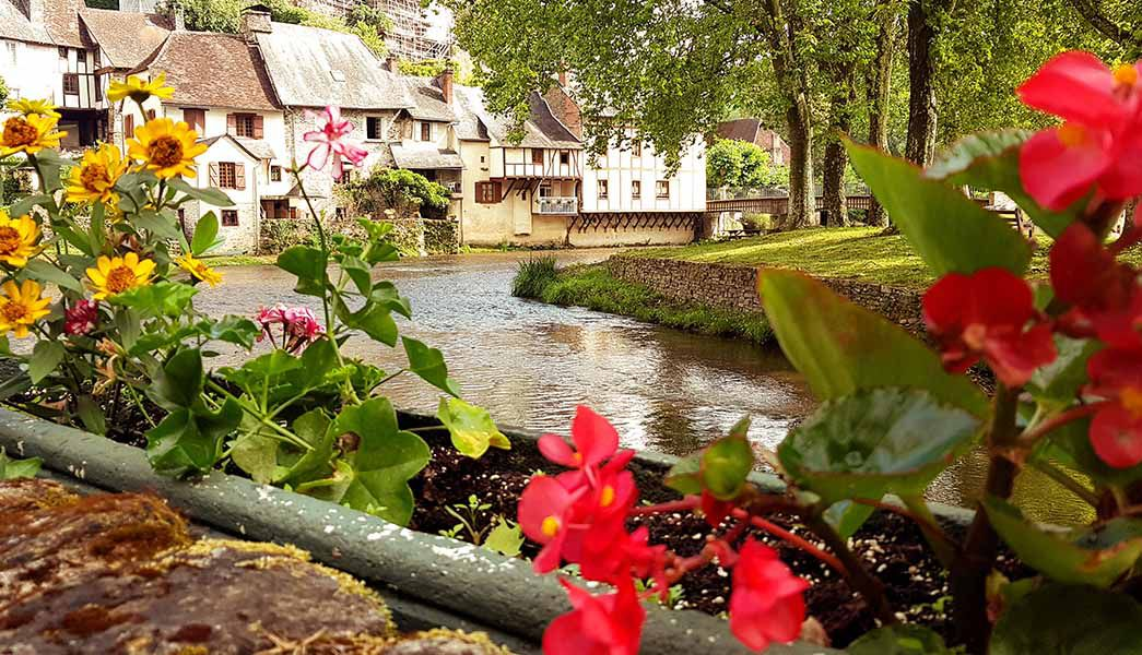 Ségur-le-Château river and flowers